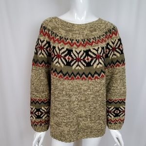 Eddie Bauer Women's Wool Blend Fair Isle Sweater